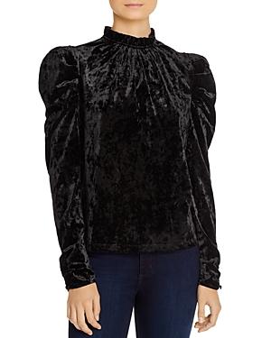 Wayf Erika Puff-Sleeve Crushed Velvet Top - 100% Exclusive