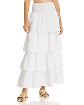 WeWoreWhat - Paloma Tiered Ruffle Cotton Skirt