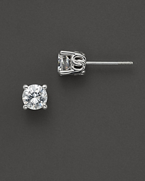 Diamond Stud Earrings in 14 Kt. White Gold, 0.50 ct. t.w. - 100% Exclusive