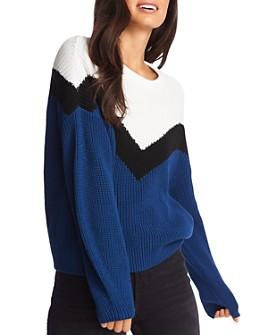 1.STATE - Color-Block Chevron Sweater