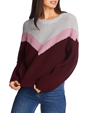 Image of 1.state Color-Block Chevron Sweater