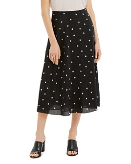 Theory - Printed Silk Midi Skirt