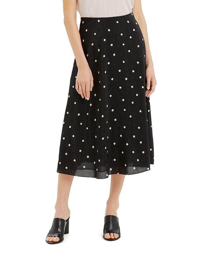 Theory - Printed Silk Midi Skirt