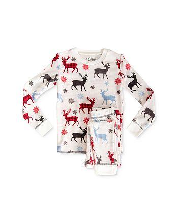 PJ Salvage - Girls' Moose Print Tee & Pants Pajama Set - Little Kid, Big Kid