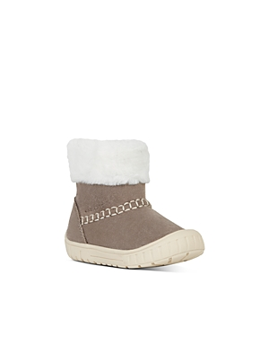 Geox Girls' B Omar Faux Fur & Suede Boots - Walker