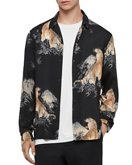 ALLSAINTS - Kayan Tiger Print Long Sleeve Slim Fit Button-Down Shirt