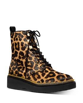 MICHAEL Michael Kors - Women's Haskell Leopard-Print Boots