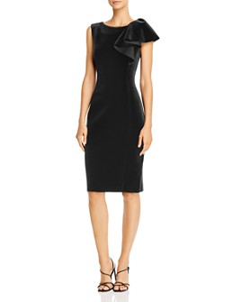 Eliza J - Asymmetric Ruffled Sheath Dress