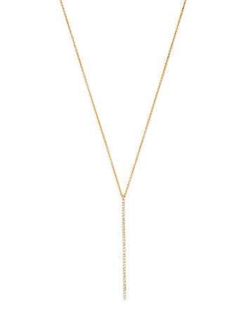 Moon & Meadow - Diamond Linear Pendant Necklace in 14K Yellow Gold, 0.18 ct. t.w. - 100% Exclusive