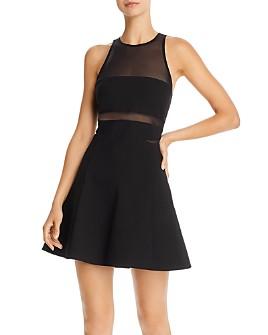 LIKELY - Renee Mesh-Detail Mini Dress