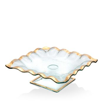 Annieglass - Ruffled-Square Cake Stand