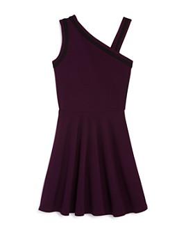 AQUA - Girls' Asymmetric Fit-and-Flare Dress, Big Kid - 100% Exclusive
