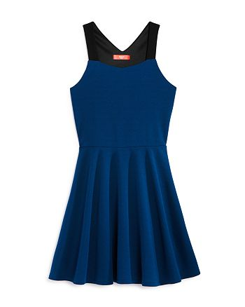 AQUA - Girls' Color-Block Fit-and-Flare Dress, Big Kid - 100% Exclusive