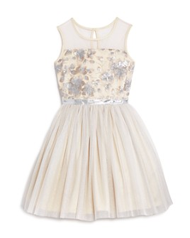 BCBGirls - Girls' Embroidered Mesh Dress - Big Kid