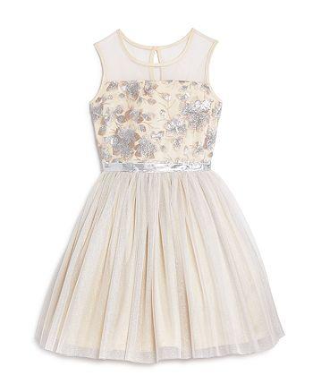 BCBGirls - Girls' Embroidered Mesh Dress - Little Kid