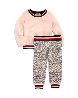 Splendid - Girls' Long Sleeve Sweater & Leopard Jogger Pants Set - Baby