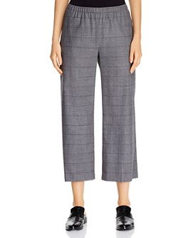 Eileen Fisher - Windowpane Cropped Pants - 100% Exclusive