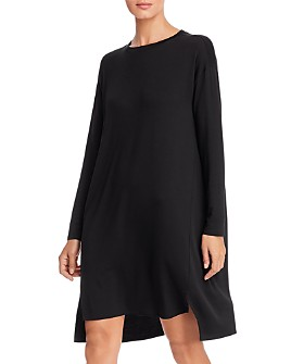Eileen Fisher - Long-Sleeve Knit Shift Dress