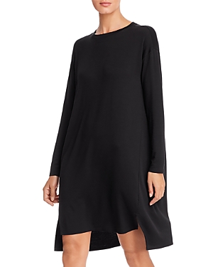 Eileen Fisher Long-Sleeve Knit Shift Dress