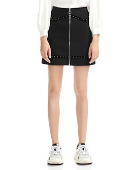 Maje - Jimage Embellished A-Line Mini Skirt