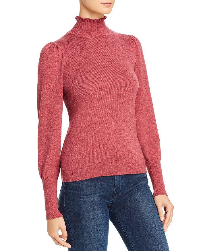 Rebecca Taylor - Cozy Lettuce-Edge Mock Neck Sweater - 100% Exclusive