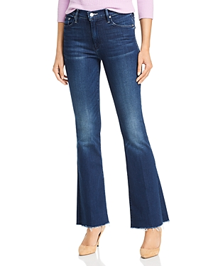 Mother Jeans THE WEEKENDER FRAY FLARED JEANS IN TONGUE AND CHIC
