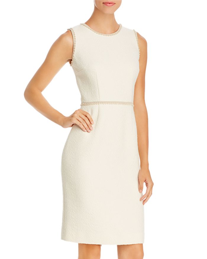 PAULE KA - Façonné Textured Chevron Dress