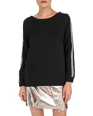 Ba&sh Sweaters BA & SH DELHIA EMBELLISHED SWEATER