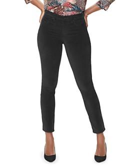 NYDJ - Sheri Slim Velvet Jeans in Black