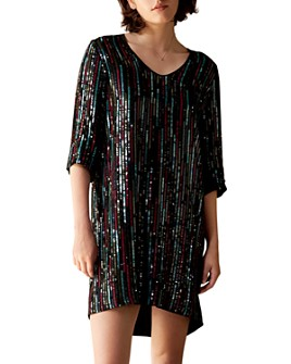 Velvet by Graham & Spencer - Elisa Sequined Shift Dress