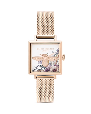 Olivia Burton Enchanted Garden Mesh Bracelet Watch, 22.5mm x 22.5mm