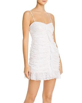 For Love & Lemons - Rodin Iridescent Lace Mini Dress