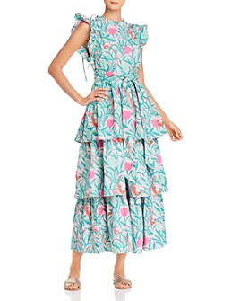 Banjanan - Adrianna Tiered Floral-Print Maxi Dress
