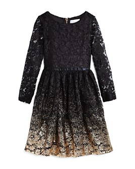 US Angels - Girls' Ombré Lace Dress - Little Kid