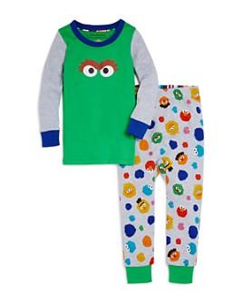 Isaac Mizrahi Loves Sesame Street - Unisex Oscar Tee & Pants Pajama Set, Baby, Little Kid - 100% Exclusive