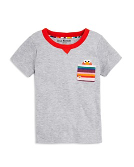 Isaac Mizrahi Loves Sesame Street - Unisex Elmo Pocket Tee, Baby, Little Kid - 100% Exclusive