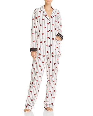 Pj Salvage Tops PRINTED FLANNEL PAJAMA SET