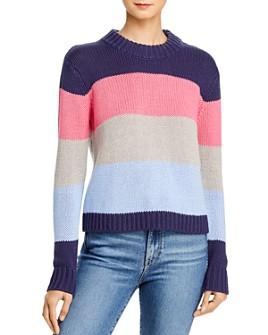 AQUA - Striped Crewneck Sweater - 100% Exclusive