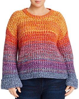 AQUA Curve - Rainbow Marled Sweater - 100% Exclusive