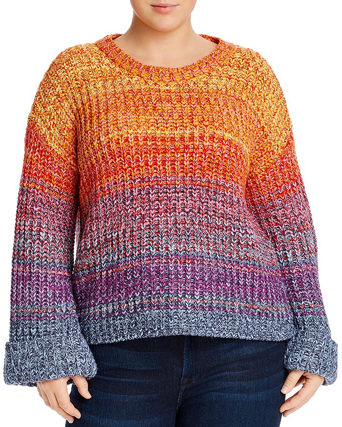 AQUA Curve - Rainbow Marled Sweater - 100% Exclusive
