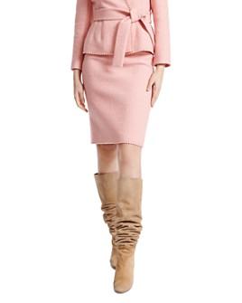 PAULE KA - Chevron Façonné Pencil Skirt