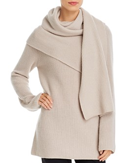 Tory Burch - Wool & Cashmere Scarf Sweater