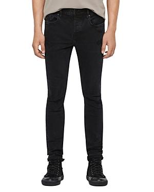 Allsaints Damaged Cigarette Skinny Jeans in Black