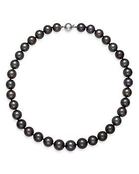 Bloomingdale's - Tahitian Black Pearl Collar Necklace in 14K White Gold - 100% Exclusive