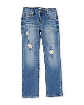 7 For All Mankind - Boys' Distressed Standard Straight Stretch Jeans - Little Kid