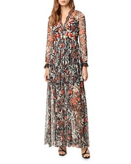 FRENCH CONNECTION - Floral-Embroidered Lace-Trimmed Maxi Dress