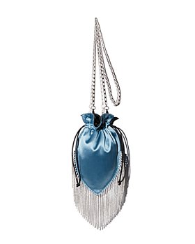 Les Petits Joueurs - Satin Fringy Crystals Shoulder Bag