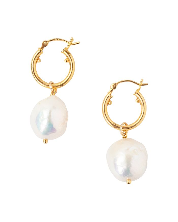 Chan Luu CULTURED FRESHWATER BAROQUE PEARL DROP EARRINGS IN 18K GOLD-PLATED STERLING SILVER