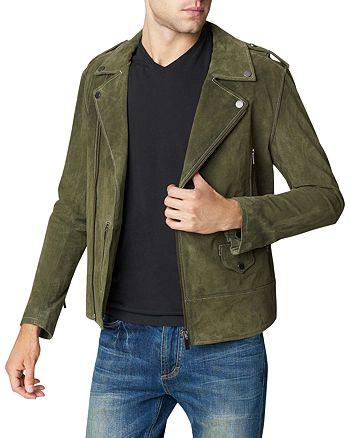 BLANKNYC - Suede Slim Fit Moto Jacket