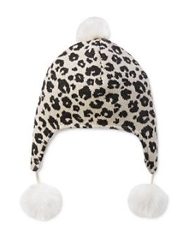 Elegant Baby - Girls' Knit Leopard Hat - Baby